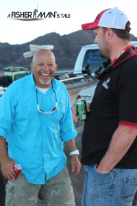 Captain Jesse and me having a laugh at the end of the day